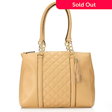 716 931 Calvin Klein Handbags Quilted Leather Tote