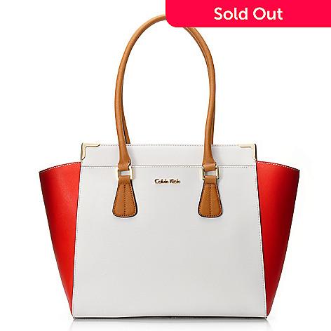 b999160a48f 716-937- Calvin Klein Handbags Saffiano Leather East/West Tote