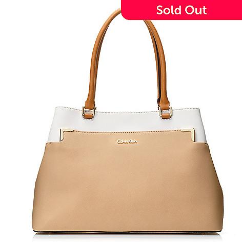 716 938 Calvin Klein Handbags Saffiano Leather Tote