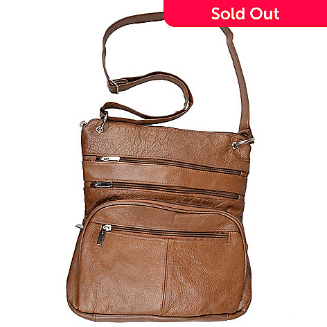 717 648 Journee Collection Women S Genuine Leather Crossbody Handbag