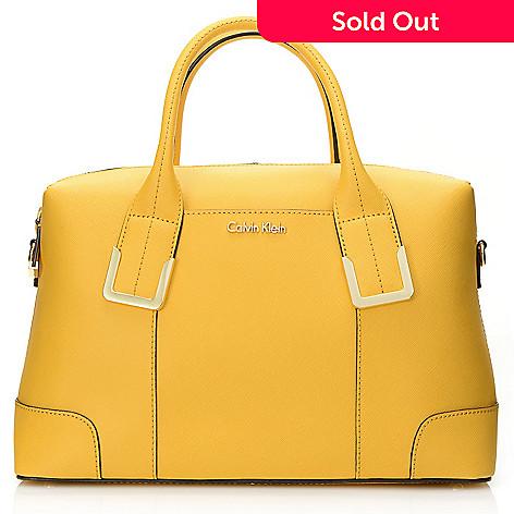 718 366 Calvin Klein Handbags Saffiano Leather Convertible East West Satchel