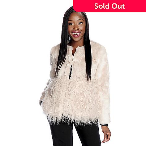 3afdbd630 Donna Salyers' Fabulous-Furs Tibetan Lamb & Rabbit Faux Fur Round Neck  Jacket