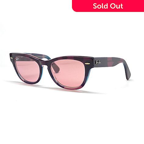 Ray-Ban Crystal Red Lens Violet Wayfarer Frame Sunglasses w/ Case ...