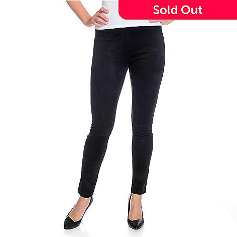 447ebd427e345 Kate & Mallory® Faux Suede Ankle-Length Pull-on Leggings - EVINE