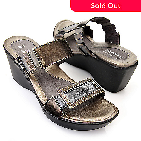 a27737b40fa9 719-313- NAOT Leather Cork Footbed Two-Strap Wedge Heel Comfort Sandals