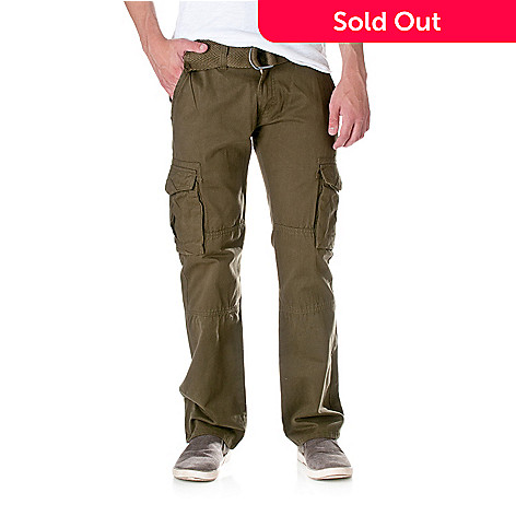 037771f8826 719-971- Jordan Craig Men's Pure Cotton Slim Fit Belted Cargo Pants