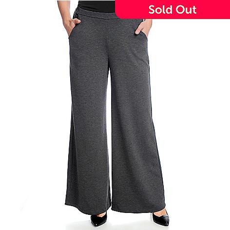 fe4ba1f133c05 Gramercy 22™ Ponte Knit Two-Pocket Wide-Leg Pull-on Pants - EVINE