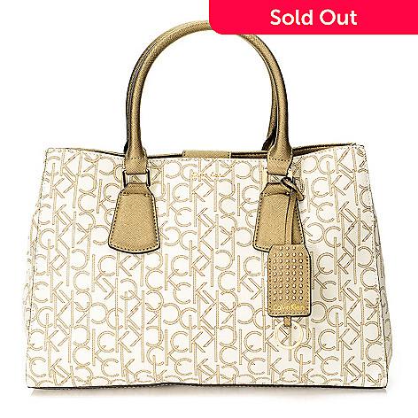 720 385 Calvin Klein Handbags Logo Convertible Tote