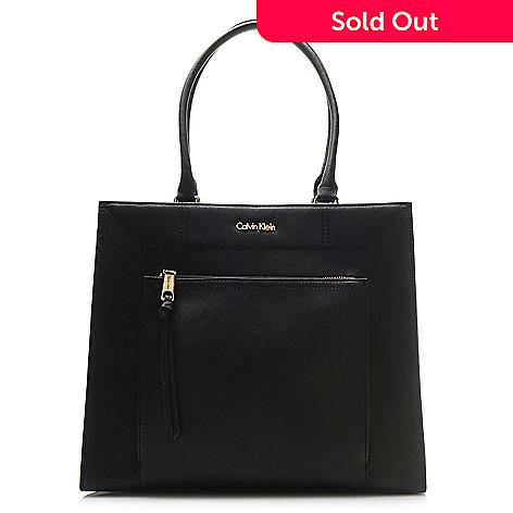 25404652fe3 720-391- Calvin Klein Handbags Saffiano Leather Square Tote