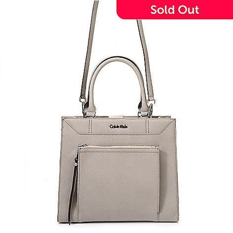 720 392 Calvin Klein Handbags Saffiano Leather Convertible Square Tote