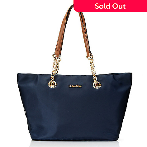 720 393 Calvin Klein Handbags Nylon Chain Tote