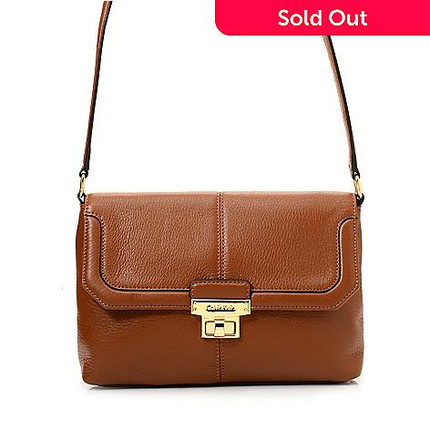 e54eddbe8e7fa 720-407- Calvin Klein Handbags Pebbled Leather Turn Lock Crossbody