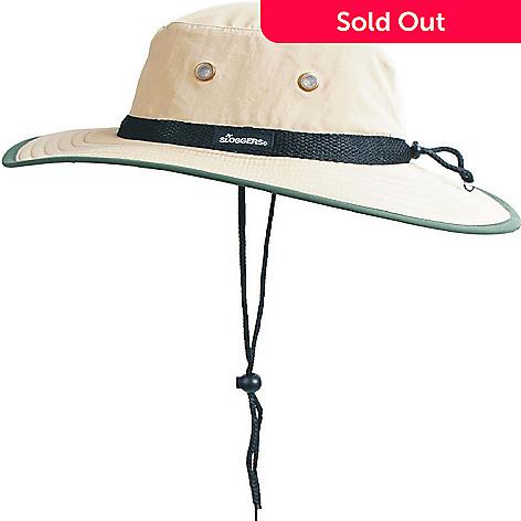 1ca130a2b89b70 720-638- Sloggers Unisex Nylon Ventilated Tan & Green Sun Hat w/ Drawstring