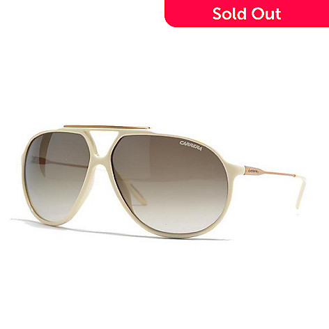 11a3808f0e56 720-984- Carrera Unisex Ivory Aviator Frame Sunglasses w/ Case