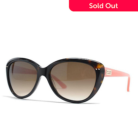f67faa97161e6 720-999- Kate Spade Angelique Faux Tortoiseshell   Blush Winged Sunglasses