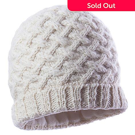 5666824861a 721-183- SIJJL s Women s Cable Knit Wool Folded Rib Trim Beanie Hat