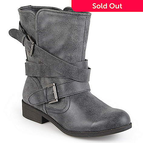6963a39f613 Madden Girl by Steve Madden Strappy Motorcycle Mid-Calf Boots