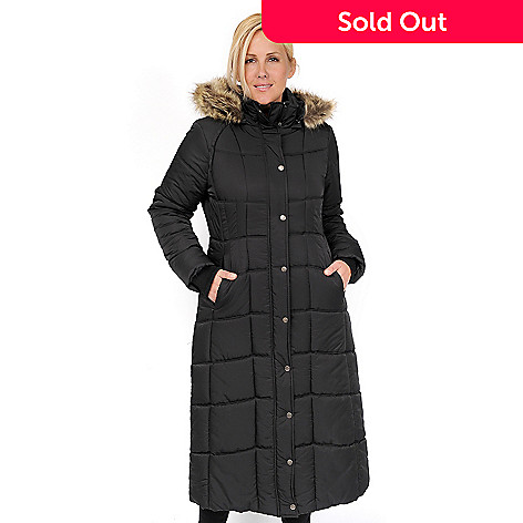 685c7ec8e5a Excelled Quilted Faux Fur Trimmed Long Puffer Coat