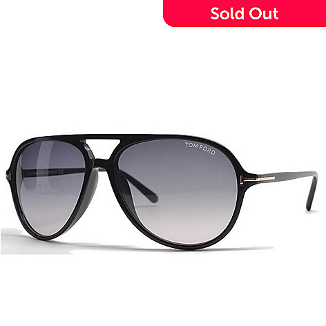 df4c5bed81 723-302- Tom Ford Men s Thick Rimmed Aviator Frame Sunglasses w  Case