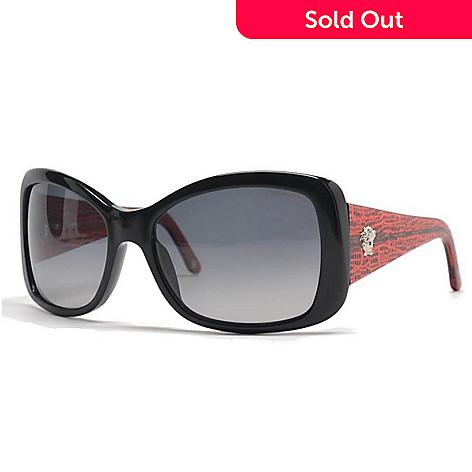 e322207b64e 723-312- Versace Black   Red Square Designer Sunglasses