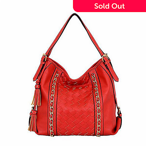 723 705 Mellow World Bellagio Faux Leather Chain Buckle Detailed Hobo