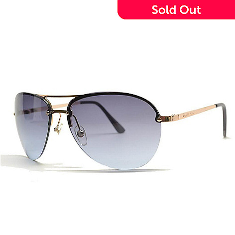 377494e1b8 723-751- Michael Kors Grey   Gold-tone Aviator Sunglasses