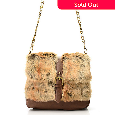 8b429793701c Donna Salyers  Fabulous-Furs Faux Fur   Faux Leather Flap-over ...