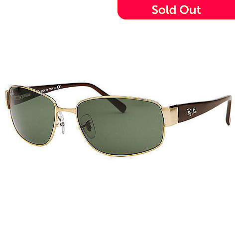 ab511543f63afb 724-218- Ray-Ban Men's Rectangle Gradient Lenses Sunglasses w/ Case
