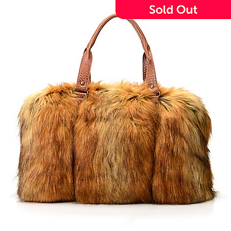 55f5955bdecf 724-317- Donna Salyers  Fabulous Furs Faux Fur   Croco Embossed Weekender  Bag
