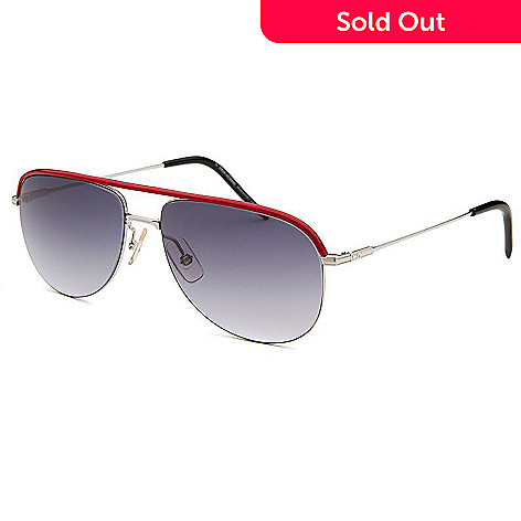 59d7578f6e5157 Christian Dior Red   Silver-tone Aviator Frame Sunglasses w  Case ...