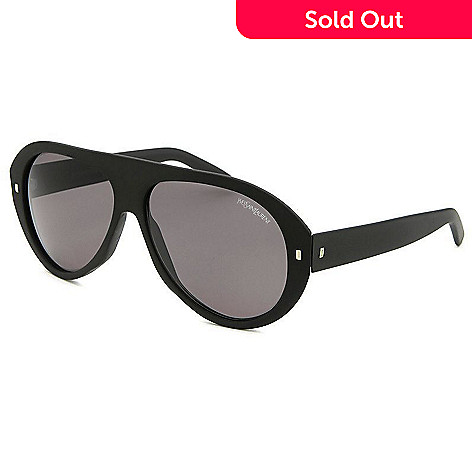 8f6f4fffebd98 724-640- Yves Saint Laurent Black Aviator Rubber Finished Sunglasses w  Case