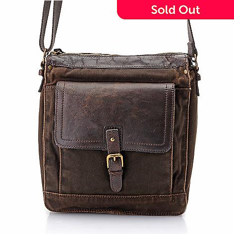 02b0e63692 724-826- Nash Men s Twill Buckle Detailed Zip Top Crossbody Messenger Bag