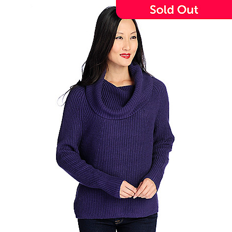 983e146bd8b0 Kate   Mallory® Ribbed Knit Long Sleeved Cowl Neck Sweater - EVINE