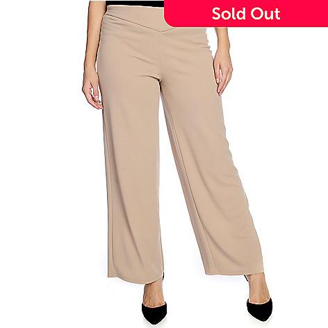 fd70a6c5a0833 Gramercy 22™ Textured Knit Yoke Waist Wide Leg Pull-on Pants - EVINE