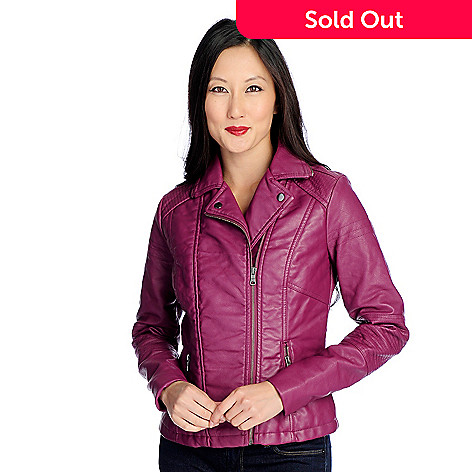 f9450fd2da84f2 Kate   Mallory® Faux Leather Long Sleeved Two-Pocket Zip Front ...