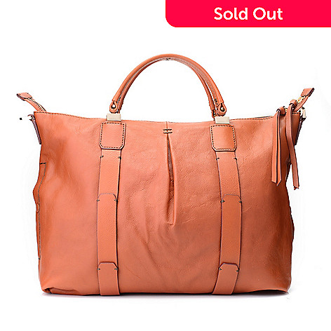 725 128 Kooba Handbags Joshua Leather Zip Top Pleated Satchel W