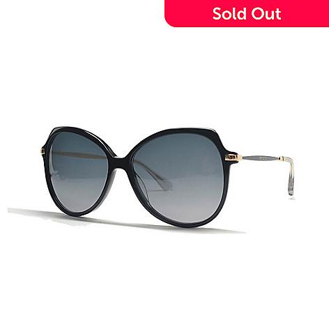 f130c7e20ab 725-558- Jimmy Choo Black Rounded Square Frame Sunglasses w  Case