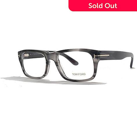 71c2956be147 726-035- Tom Ford Marbled Grey Horned Rectangular Frame Eyeglasses w/ Case