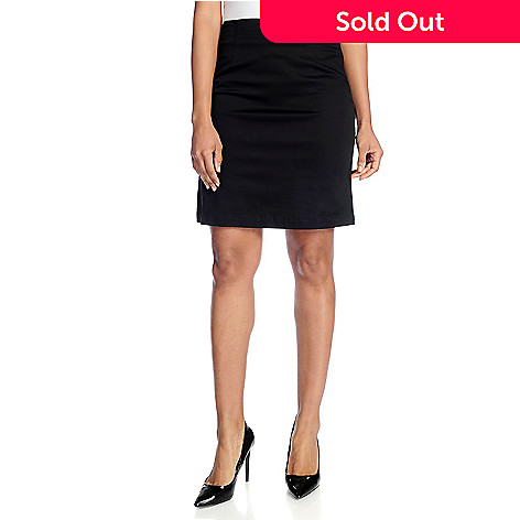 3f8fd72c2d 726-423- NV by Nick Verreos Stretch Woven Fully Lined Side Zip Pencil Skirt