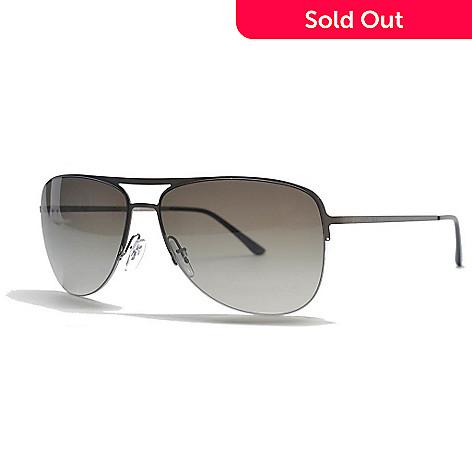 0c2ce728e25a 726-497- Giorgio Armani Men's Gunmetal & Green Aviator Frame Sunglasses ...