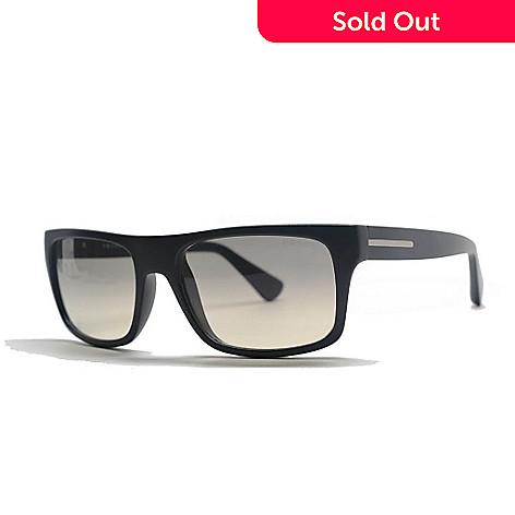 a4b0694c27e0 727-272- Prada Men's Classic Black Full Rim Rectangle Frame Sunglasses w/  Case