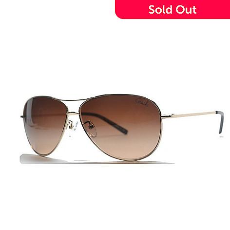 ce7a0838180a 727-276- Coach Brown Lens Aviator Frame Sunglasses w/ Hard Case