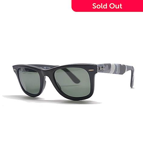 6a16dfb6ec78 727-283- Ray-Ban Unisex Black Polarized Lens Wayfarer Frame Sunglasses w