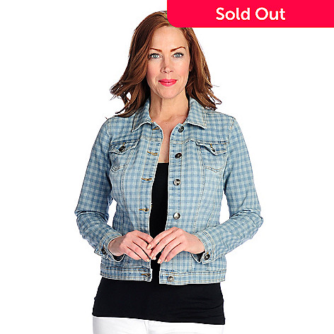 aaf6ecbe56f1c2 727-331- OSO Casuals® Patterned Denim Long Sleeved Button Front Two-Pocket