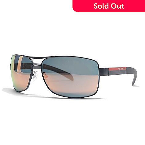 e693804fddc0 727-469- Prada Men's Grey Aviator Frame Sunglasses w/ Adjustable Nose Pads &