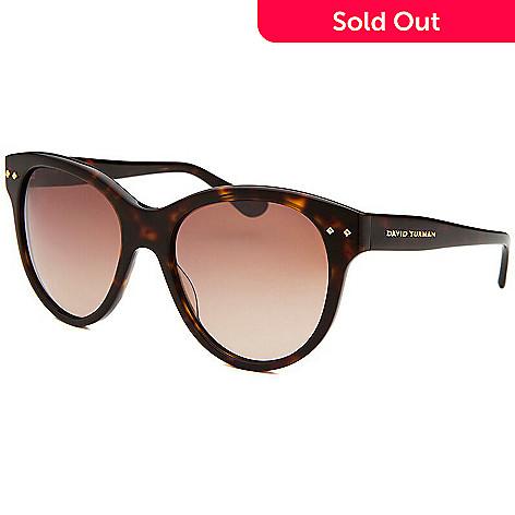 57086dd3a05 727-570- David Yurman Dark Faux Tortoiseshell Round Frame Sunglasses w  Case
