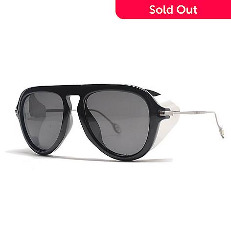 Gucci Black Thick Frame Wrap Around Sunglasses w/ Case - EVINE