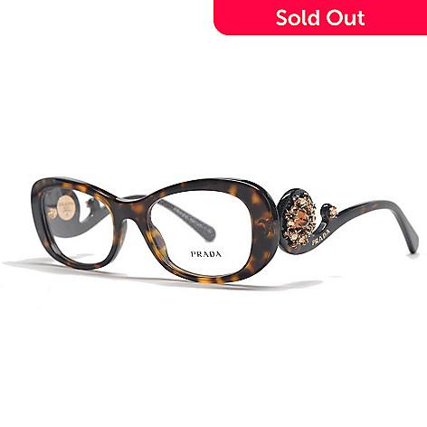 Prada Baroque Swirl Arm Oval Frame Limited Edition Eyeglasses w ...