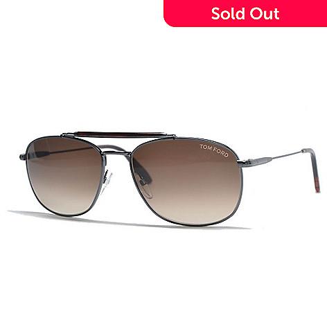 1ffa53e8dc096 728-398- Tom Ford Gunmetal Aviator Frame Sunglasses w  Case