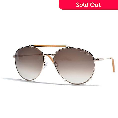 7172a67f645a9 728-399- Tom Ford Rose Gold-tone Aviator Designer Sunglasses w  Case